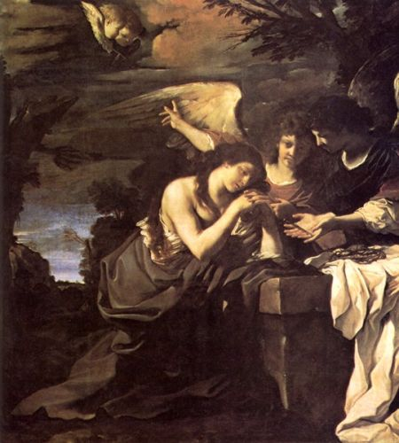 Magdalen and Two Angels by Giovanni Francesco Barbieri Guercino