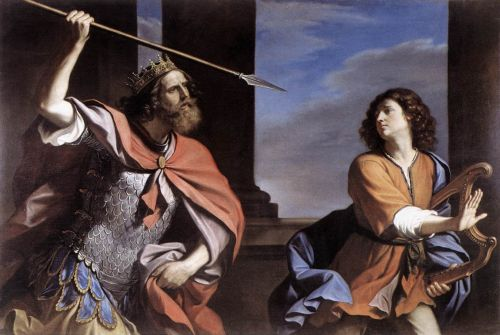 Saul Attacking David by Giovanni Francesco Barbieri Guercino