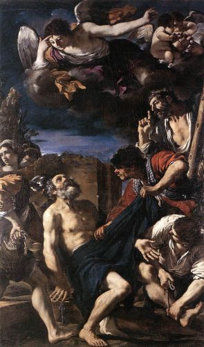 The Martyrdom of St Peter by Giovanni Francesco Barbieri Guercino