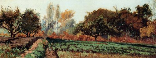 Fields and Trees, Autumn Study by Paul-Camille Guigou