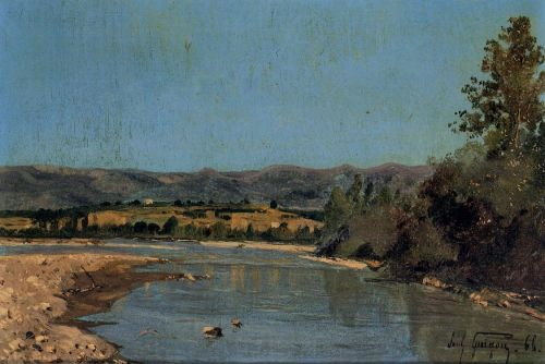 The Banks of the Durance at Puivert by Paul-Camille Guigou