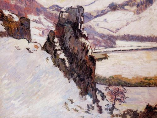Landscape: The Creuse in the Snow by Armand Guillaumin