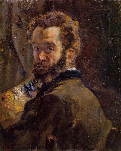 Self Portrait with Easel by Armand Guillaumin