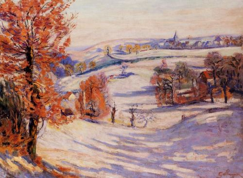 Snow at Crozant by Armand Guillaumin