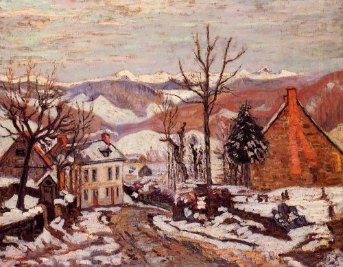 Winter in Saint Sauves by Armand Guillaumin