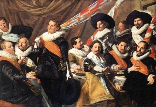 Banquet of the Officers of the St George Civic Guard Company by Frans Hals