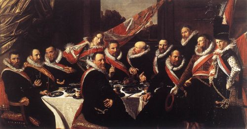 Banquet of the Officers of the St George Civic Guard by Frans Hals