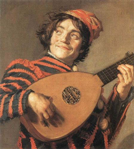 Buffoon Playing a Lute by Frans Hals