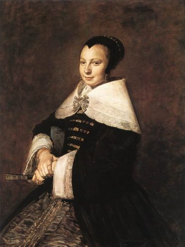 Portrait of a Seated Woman Holding a Fan by Frans Hals