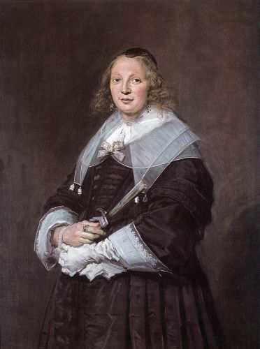 Portrait of a Standing Woman by Frans Hals