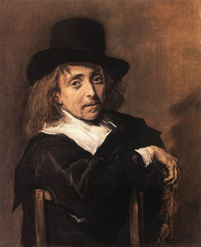 Seated Man Holding a Branch by Frans Hals