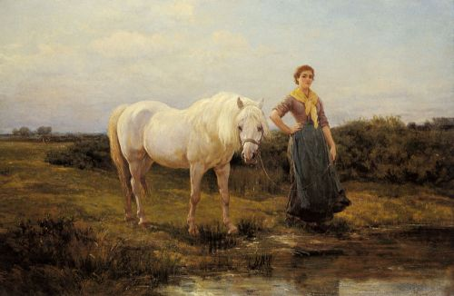 Noonday taking a Horse to Water by Heywood Hardy