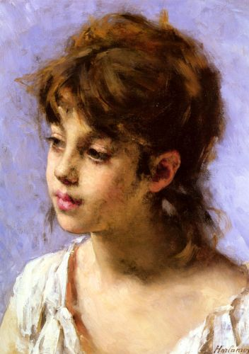 Portrait of a Peasant Girl by Alexei Harlamoff