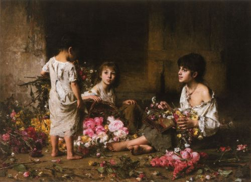 The Flower Girls by Alexei Harlamoff