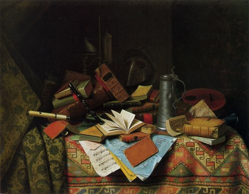 A Study Table by William Michael Harnett