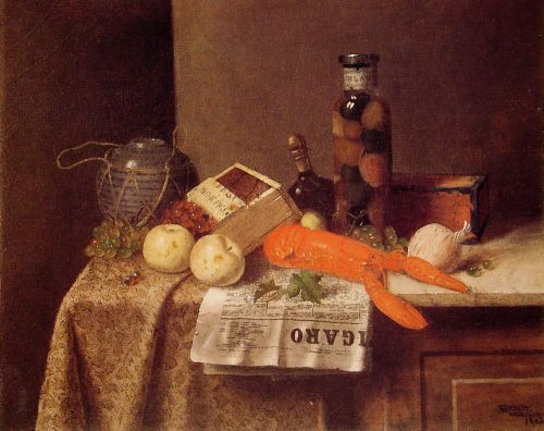 Still Life with Le Figaro by William Michael Harnett