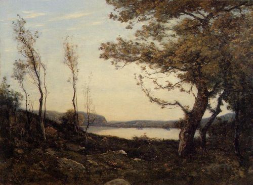 Landscape with Lake by Henri Harpignies