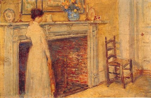 The Fireplace by Childe Hassam