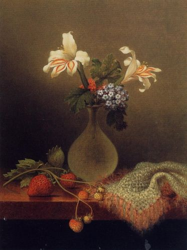 A Vase of Corn Lilies and Heliotrope by Martin Johnson Heade
