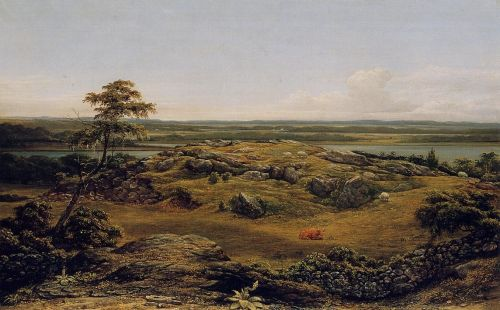 Rocks in New England by Martin Johnson Heade
