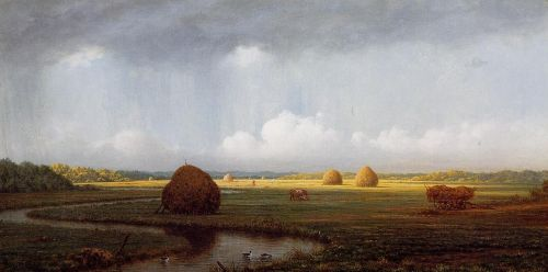 Sudden Shower, Newbury Marshes by Martin Johnson Heade