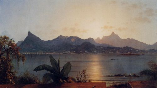 Sunset: Harbor at Rio by Martin Johnson Heade