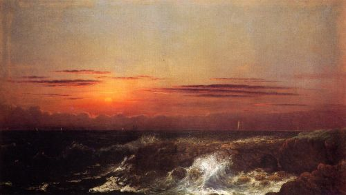 Sunset at Sea by Martin Johnson Heade
