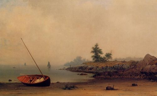 The Stranded Boat by Martin Johnson Heade