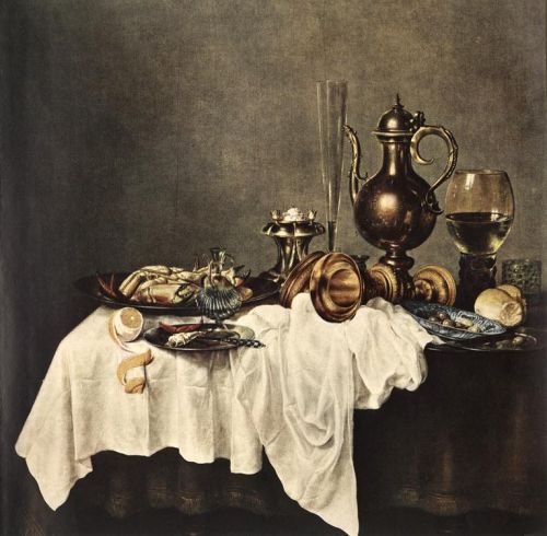 Breakfast of Crab by Willem Claeszoon Heda