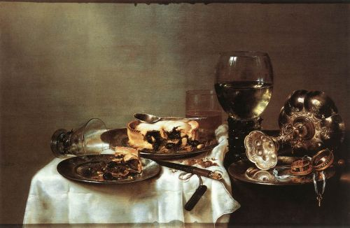 Breakfast Table with Blackberry Pie by Willem Claeszoon Heda