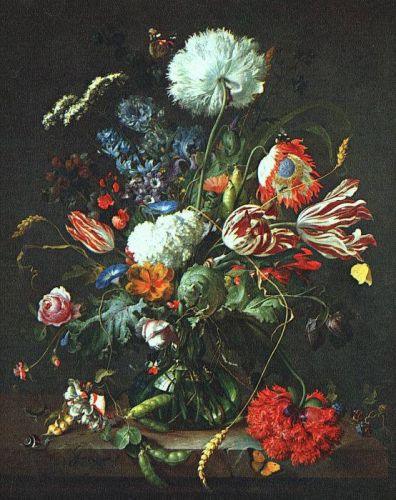 Vase of Flowers by Jan Davidszoon de Heem
