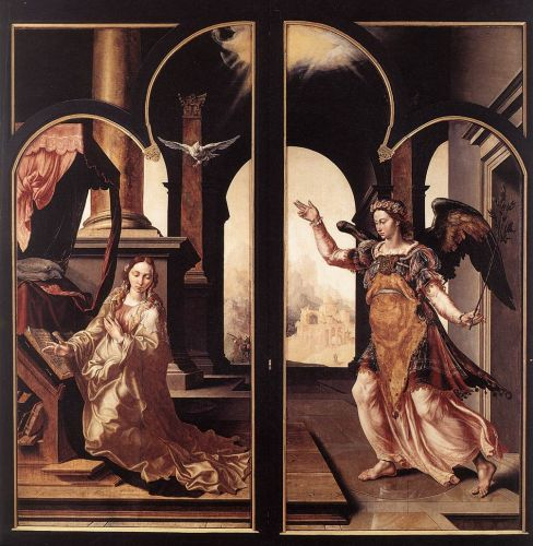 Annunciation by Maerten Jacobszoon van Heemskerck