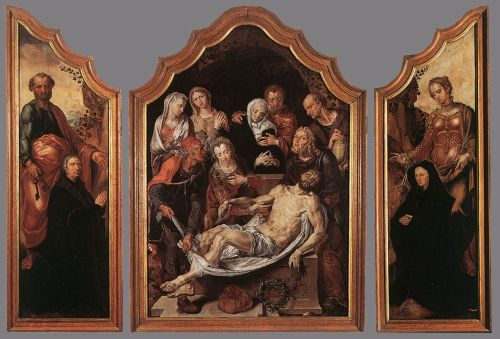 Triptych of the Entombment by Maerten Jacobszoon van Heemskerck