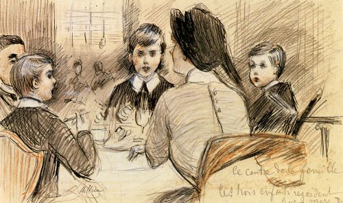 A Family Dinner at the Ritz, New York by Paul Helleu