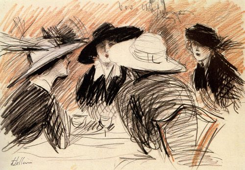 Ladies at the Ritz, New York by Paul Helleu