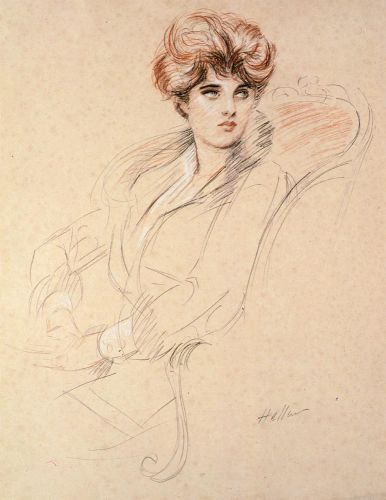 Portrait of a Lady, seated by Paul Helleu