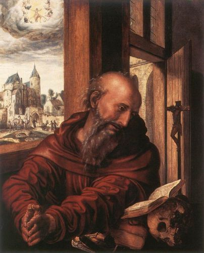 St Jerome by Jan Sanders van Hemessen