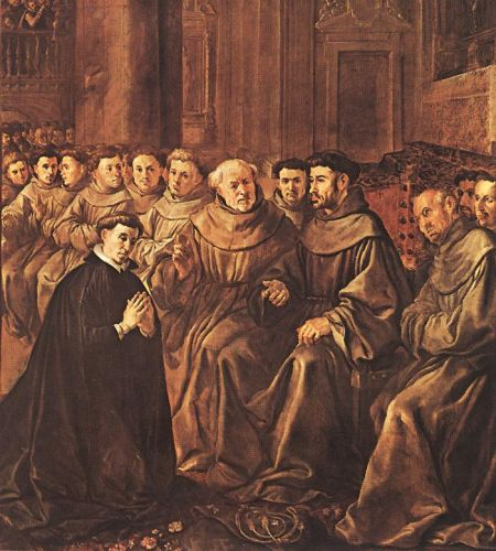 St Bonaventure Joins the Franciscan Order by Francisco de Herrera