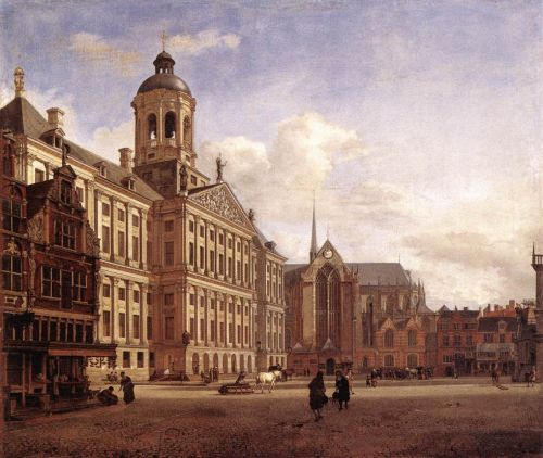 The New Town Hall in Amsterdam by Jan van der Heyden