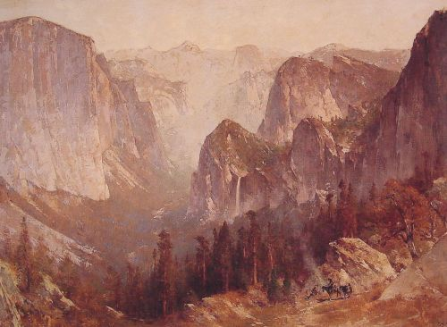 Encampment Surrounded by Mountains by Thomas Hill