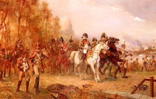 Napoleon With His Troops At The Battle Of Borodino by Robert Alexander Hillingford