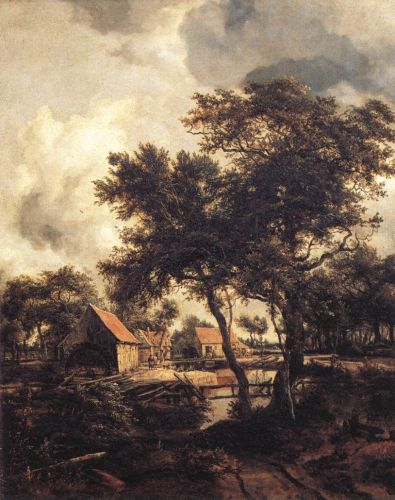 The Watermill by Meyndert Hobbema