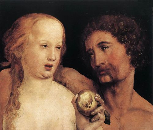 Adam and Eve by Hans Il Giovane Holbein