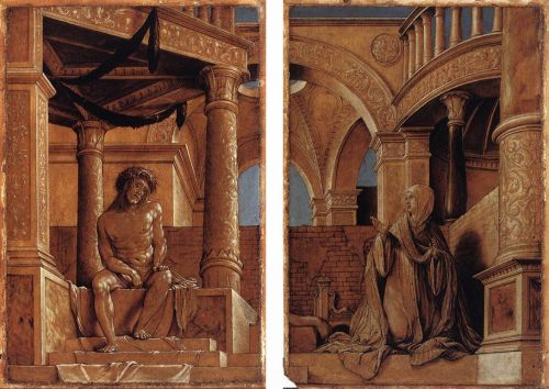 Diptych with Christ and the Mater Dolorosa by Hans Il Giovane Holbein