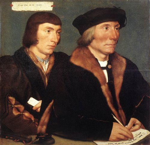 Double Portrait of Sir Thomas Godsalve and His Son John by Hans Il Giovane Holbein
