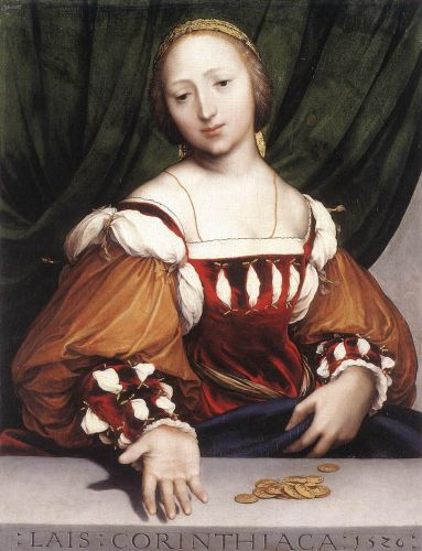 Lais of Corinth by Hans Il Giovane Holbein