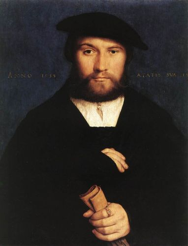 Portrait of a Member of the Wedigh Family by Hans Il Giovane Holbein