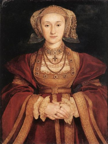 Portrait of Anne of Cleves by Hans Il Giovane Holbein