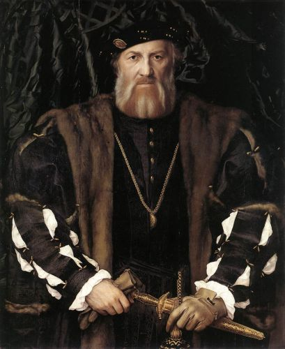 Portrait of Charles de Solier, Lord of Morette by Hans Il Giovane Holbein