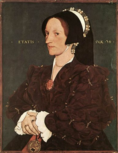 Portrait of Margaret Wyatt, Lady Lee by Hans Il Giovane Holbein